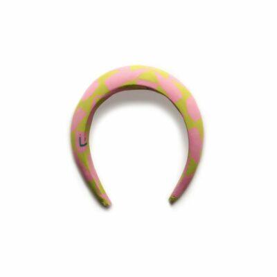 Balaca Acrobata Pinkgold La Figueretti. Material: Accesorio confeccionado en tejido lycra 82% poliester 18% espandex, estampado por sublimación.